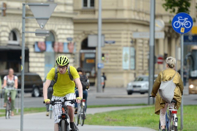 Wien investiert weiter in den Ausbau der Radwege.