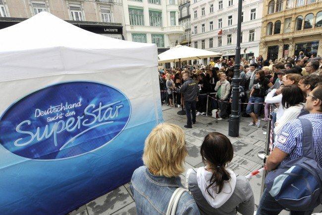 Großes DSDS-Casting im September 2016 in Wien.