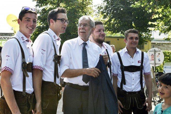 Bundespräsidentschaftskanditat Alexander Van der Bellen beim Erntedankfest