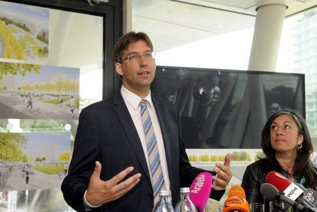 Bezirksvorsteher Markus Figl und Verkehrsstadträtin Maria Vassilakou im Clinch.