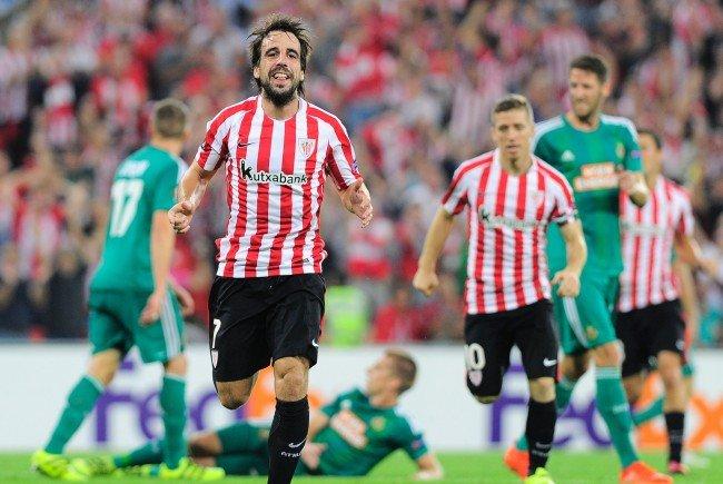 Athletics Beñat Etxebarria erzielte das entscheidende Tor im San-Mamés-Stadion von Bilbao.
