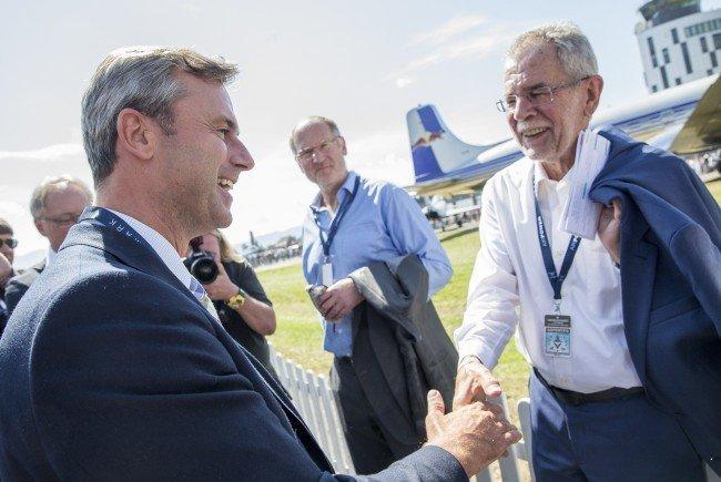 Hofer und Van der Bellen bei der Flugshow Airpower in Zeltweg