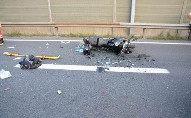Ein alkoholisierter Motorradfahrer wurde am Donnerstag auf der A23 schwer verletzt