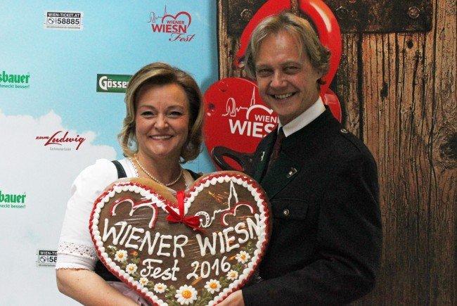 Die Veranstalter des Wiener Wiesn Festes.