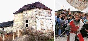 Historisches Spektakel beim Mittelalterfest im Schloss Neugebäude