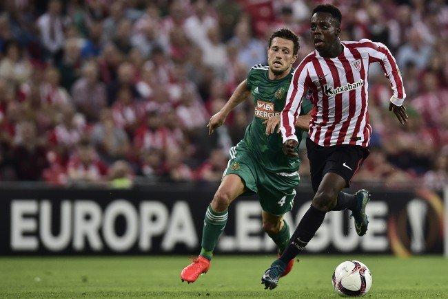Die Hütteldorfer mussten eine 0:1-Niederlage gegen Athletic Bilbao hinnehmen.