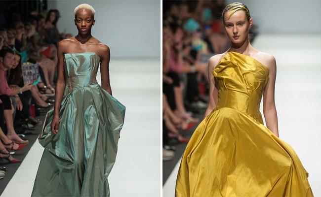 Edle Roben und vieles mehr gibt es auf der Modewoche zu sehen.