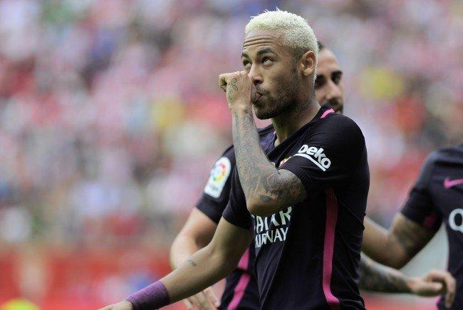 Neymar will auch gegen Mönchengladbach netzen.