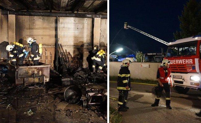 Großeinsatz der Feuerwehr im Bezirk Baden.