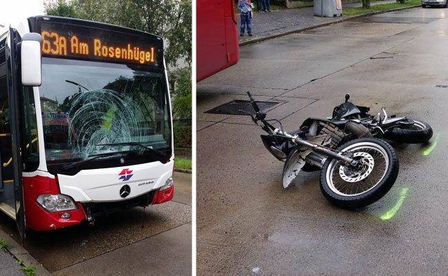 Der demolierte Bus und das gestohlene Moped