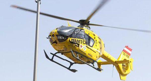 Mit einem Rettungshubschrauber wurde der verunfallte Student ins Spital geflogen