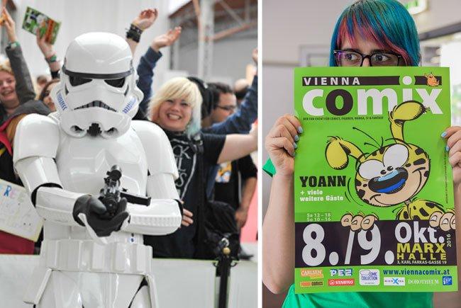 Bei der Vienna Comix gibt es unter anderem einen Star Wars-Schwerpunkt