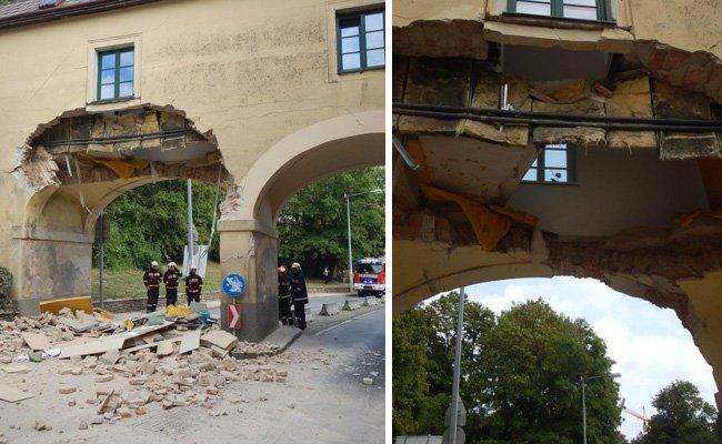 Das betroffene Gebäude auf der Wiener Breitenfurter Straße.