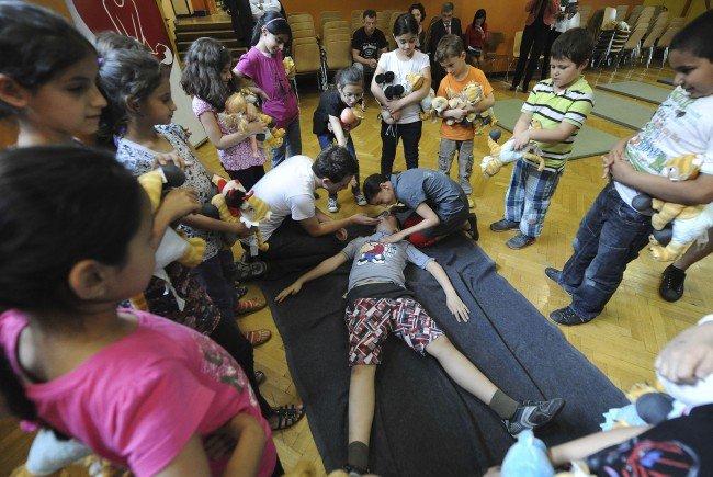 Kinder wurden in Sachen Erste Hilfe geschult