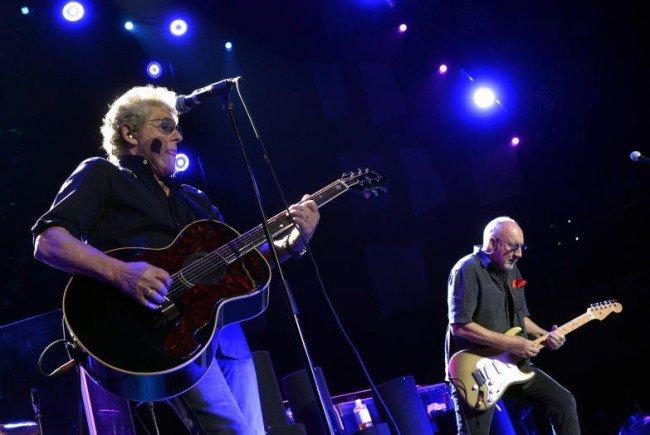 Roger Daltrey (l.) und Pete Townshend rockten die Wiener Fans.