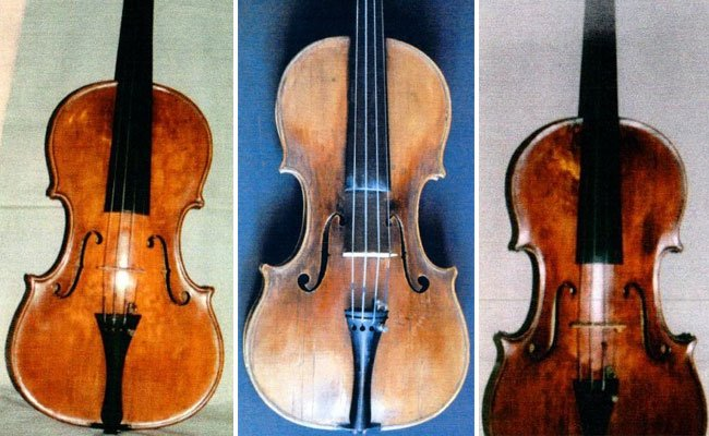 Wertvolle Geigen wurden gestohlen, darunter eine Nicolaus Amati (Bildmitte).