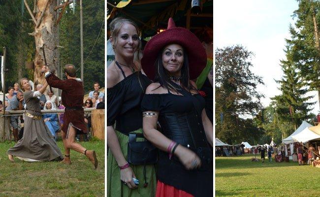 """Beim """"Gaudium zur Purg"""" kamen Mittelalterfest wieder voll auf ihre Kosten."""