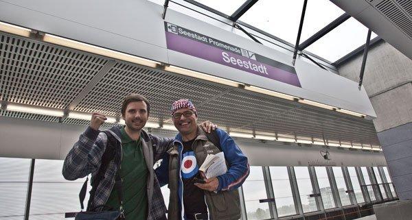 Im Wiener U-Bahn-Netz gelang Dicks Rekordversuch