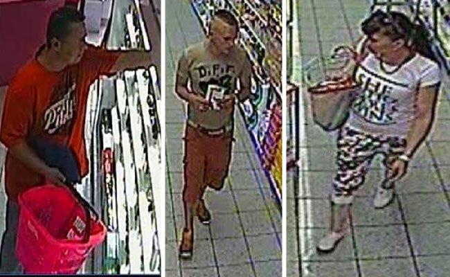 Die gesuchten drei Personen am Tatort