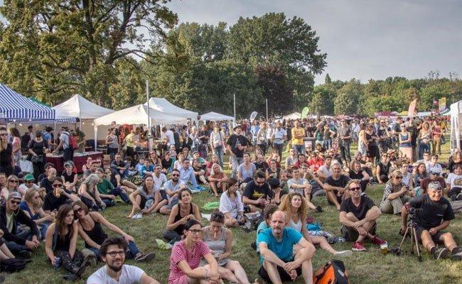 Reger Andrang beim Volksstimmefest.