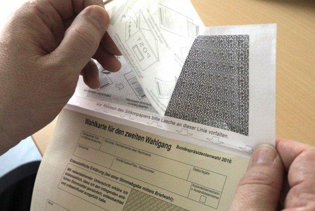 Das Innenministerium gibt Entwarnung bei schadhaften Wahlkarten