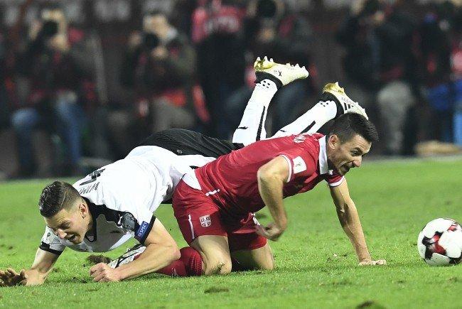 Österreich musste sich in der WM-Qualifikation gegen Serbien mit 2:3 geschlagen geben.
