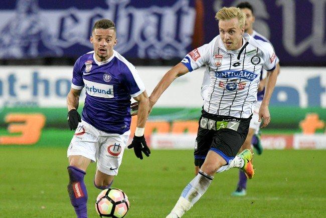 Die Wiener Austria besiegte Sturm Graz im Ernst-Happel-Stadion.