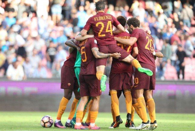 AS Roma (Bild) und Sassoulo sind klara Favoriten gegen Austria und Rapid Wien.