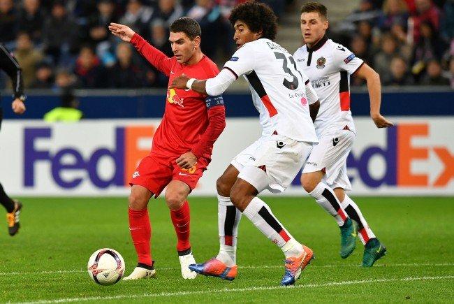 Red Bull Salzburg bleibt auch gegen Nizza ohne Punkte.