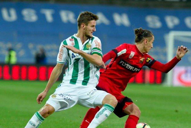 Beim Spiel Rapid Wien gegen Admira Wacker Mödling.