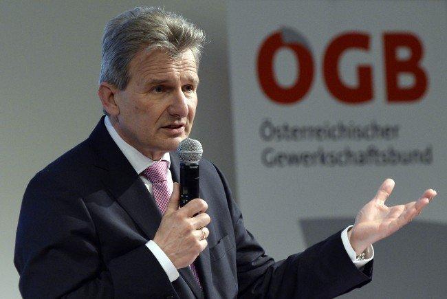 ÖGB-Präsident Foglar will eine Erhöhung der Mindestsicherung