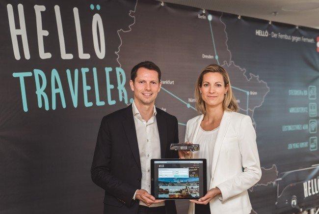 Tobias Hann, Geschäftsführer ÖBB-Fernbus GmbH und Valerie Hackl, Vorstand ÖBB-Personenverkehr AG.