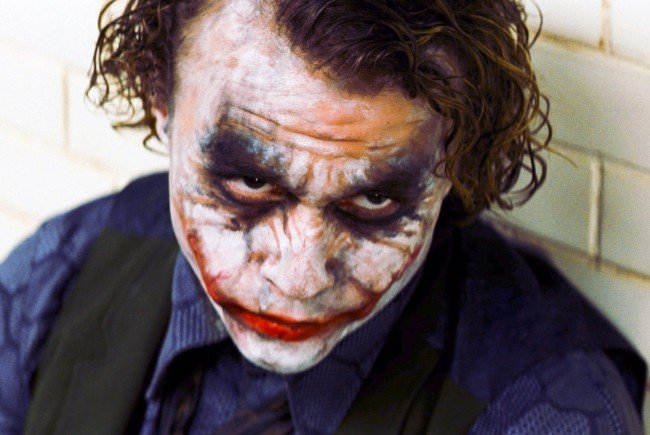"Heath Ledger in der Rolle des ""Jokers""."