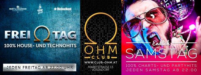 Ab dem 21. Oktober wird im Club Ohm auch samstags gefeiert.