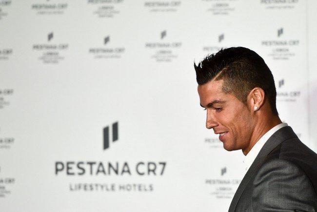 Cristiano Ronaldo bei der Eröffnung seines Hotels in Lissabon.