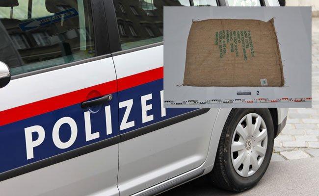 Die gestohlenen Objekte wurden in diesen Jutesäcken abtransportiert.