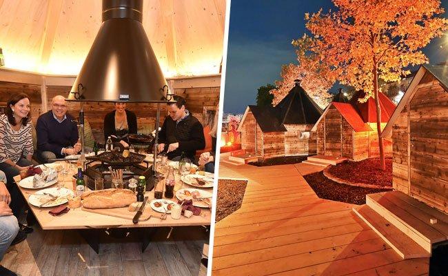 Im Feuerdorf am Donaukanal können Grillmeister ihre Leidenschaft auch im Winter ausleben.