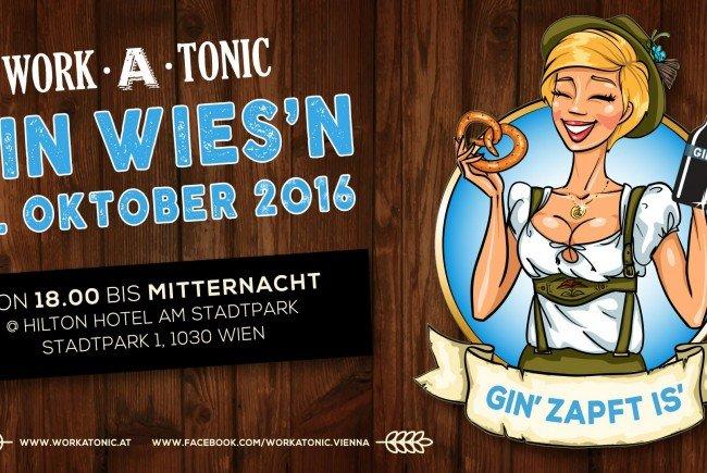 """Das Afterwork-Clubbing """"Work-A-Tonic"""" lädt am 13. Oktober zur """"Gin-Wiesn""""."""