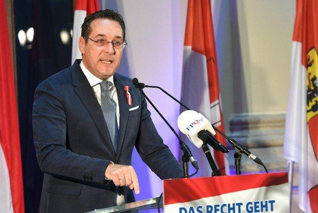 FPÖ-Bundesparteiobmann Heinz-Christian Strache bei seiner Rede am Montag.