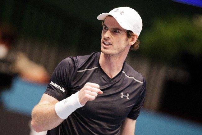 Andy Murray (GBR) jubelt nach seinem Spiel gegen Gilles Simon (FRA) am Donnerstag
