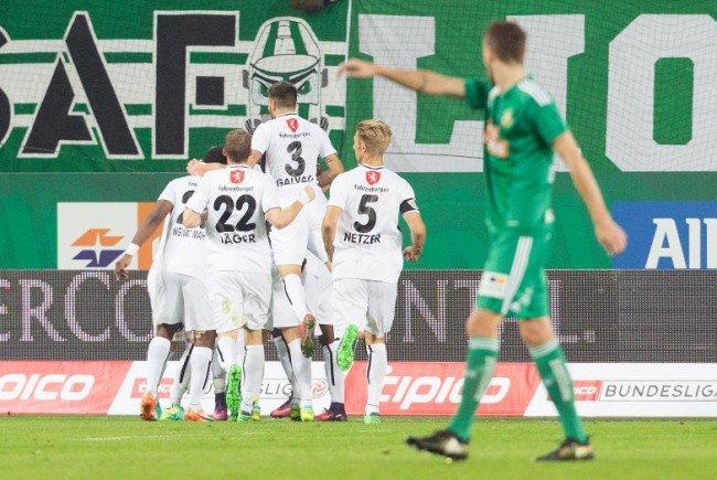 Die Hütteldorfer retteten gegen Altach im Allianz Stadion, wo am Donnerstag Sassuolo zu Gast ist, gerade noch ein 1:1.