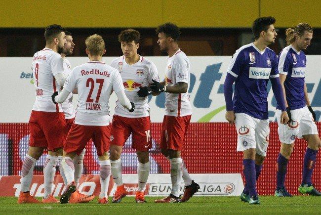 Red Bull Salzburg gewinnt gegen Austria Wien mit 3:1.