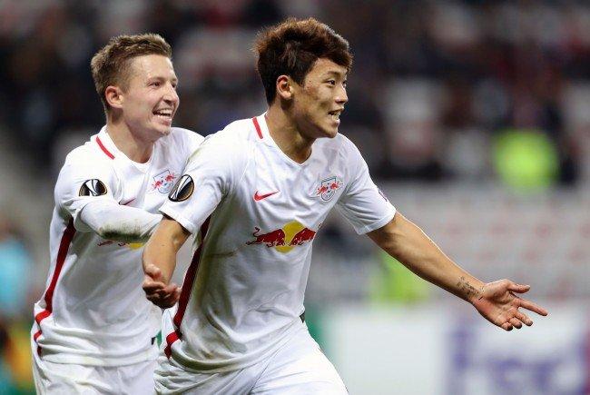Red Bull Salzburg feierte den ersten Sieg in der Europa League-Gruppenphase.