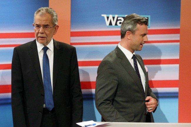 Die Bundespräsidentschaftskandidaten schenkten sich im TV-Duell nichts.