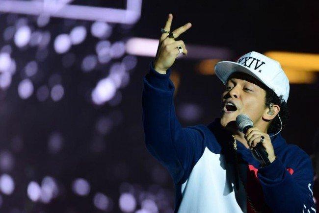 Wiedersehen mit Bruno Mars 2017.