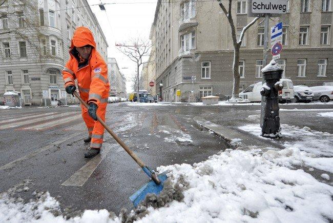 Die Mitarbeiter der MA48 sind gewappnet für den ersten Schnee in Wien