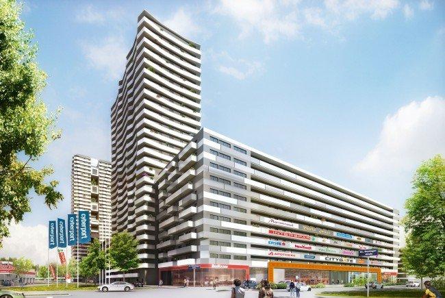 Der Citygate Tower im 21. Bezirk in Wien.