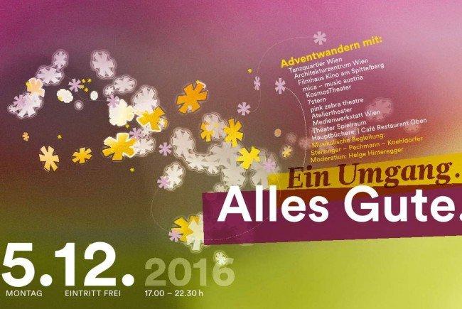 "Der Adventumgang ""Alles Gute. Ein Umgang"" findet am 5.12. 2016 statt."