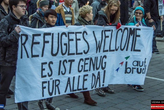 """Die """"Demonstration gegen Abschiebung"""" fand am Samstag statt."""