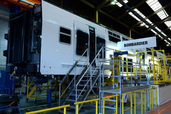 Im Bombardier Werk in Frankreich